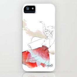 Dancing in the poppies iPhone Case