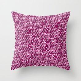 Microchip Pattern (Purple) Throw Pillow