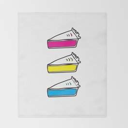 3 Pies - CMYK/White Throw Blanket