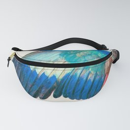 Wing of a Blue Roller by Albrecht Durer 1512 // Anatomy of a Birds Wing Wildlife Nature Decor Fanny Pack