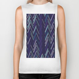 Abstract Chevron Biker Tank