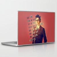 david tennant Laptop & iPad Skins featuring DON'T BLINK! David Tennant - Doctor Who by KanaHyde