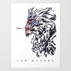 Sun Wukong the Monkey King Art Print