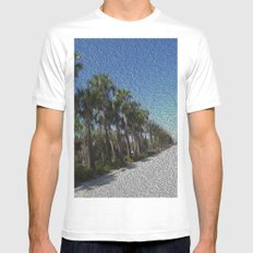 Infinite Palm Trees MEDIUM Mens Fitted Tee White