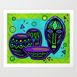 Artifact African Pop Art Art Print
