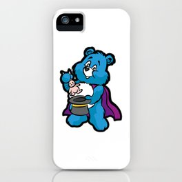 TEDDY BEAR MAGICIAN Wizard Sorcerer Magic Magus iPhone Case
