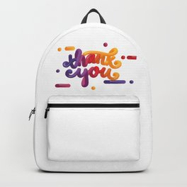 3D Thank You Backpack