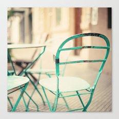 Mint chair (Retro mint chair) Canvas Print
