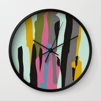 it crowd Wall Clocks featuring Crowd by FLATOWL