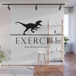 Exercise - black Wall Mural