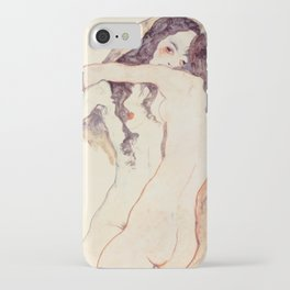 Egon Schiele Two Women Embracing iPhone Case