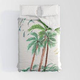 """Triplet Palms"" Comforters"