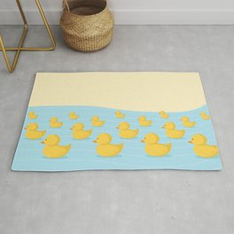 Rubber Duckie Army Rug