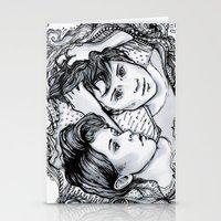 tegan and sara Stationery Cards featuring Tegan & Sara by JenHoney
