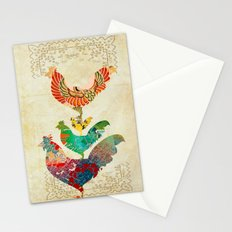 Chinese Lunar New Year and 12 animals  ❤  The ROOSTER 雞 Stationery Cards