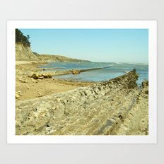 Bowling Ball Beach IX Art Print