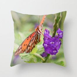 Butterfly in Ometepe, Nicaragua Throw Pillow