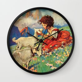 Jessie Willcox Smith - Heidi, Girl Of The Alps - Digital Remastered Edition Wall Clock