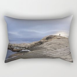Finmark, North of Norway, dramatic landscape Rectangular Pillow