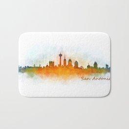 San Antonio City Skyline Hq v3 Bath Mat