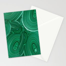 Green Malachite Nature Pattern Design Abstract Stationery Cards