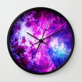 Purple Blue nebuLA Wall Clock