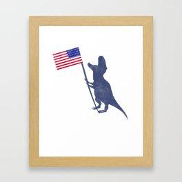 Patriotic T-Rex Framed Art Print