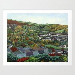 Pontypridd (featuring Sardis Road Rugby Ground) Art Print