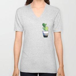 Aro cactus Unisex V-Neck