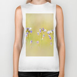 Three lilac flowers Biker Tank