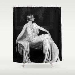 Muriel Finlay, Ziegfeld Follies Jazz Age black and white photograph Shower Curtain