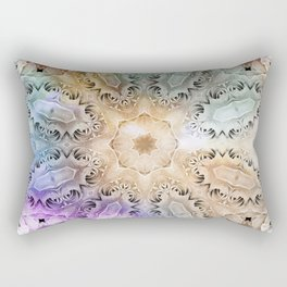 Vintage colored kaleidoscope Rectangular Pillow