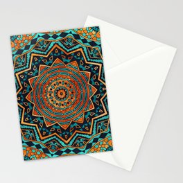 Blue and Gold Mandala Stationery Cards