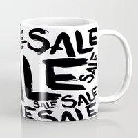sale Mugs featuring Sale by LoRo  Art & Pictures