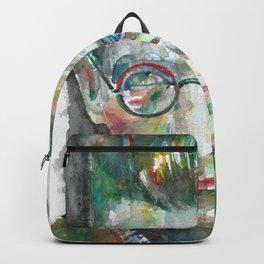 SAMUEL BECKETT watercolor portrait.5 Backpack