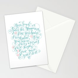 Five Simple Rules for Happiness Stationery Cards
