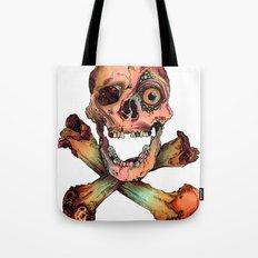 Skull in Color Tote Bag