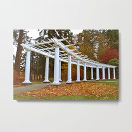 Autumn columns Metal Print