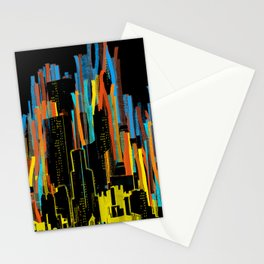 strippy city Stationery Cards