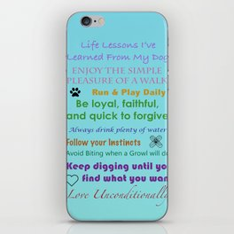 Life Lessons  iPhone Skin