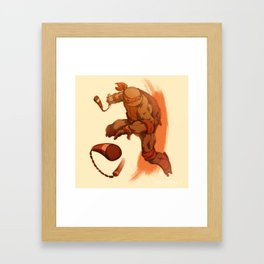 Party Dude Framed Art Print