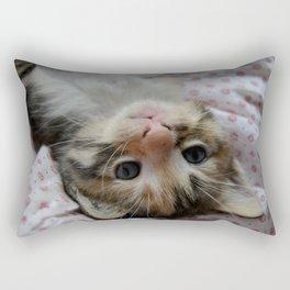 Upside-down kitty. Rectangular Pillow