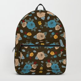 Colorful Roses pattern Backpack