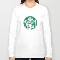 starbucks Long Sleeve T-shirts featuring Selfie - 'Starbucks ICONS' by Alejo Malia