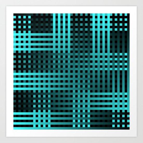 Teal Weave Art Print
