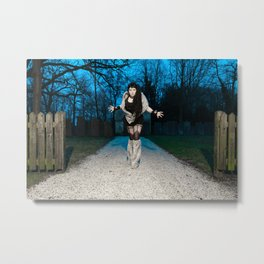 Cemetery gothic girl Metal Print
