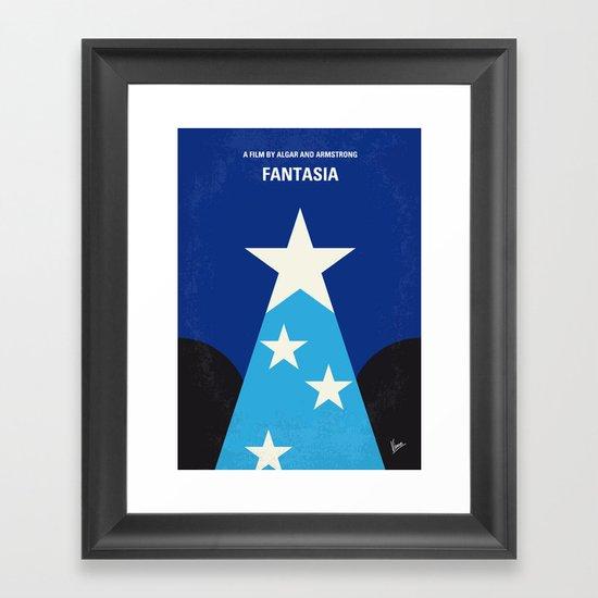 No242 My Fantasia minimal movie poster Framed Art Print