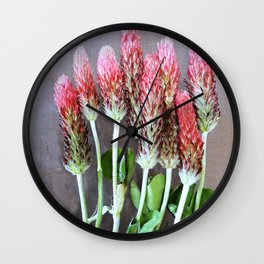 some fieldflowers Wall Clock