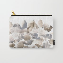 180630 Grey Black Brown Abstract Watercolour 16| Watercolor Brush Strokes Carry-All Pouch