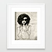 vogue Framed Art Prints featuring Vogue by Caroline Jordan